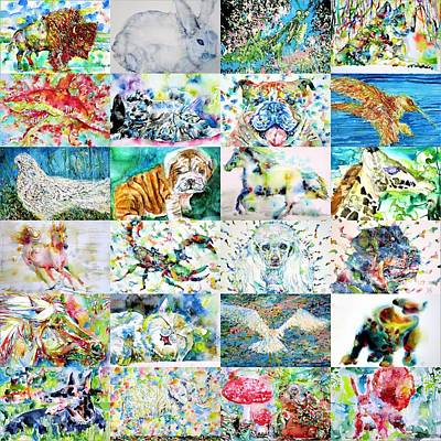 Painting - Twenty-four Animals by Fabrizio Cassetta