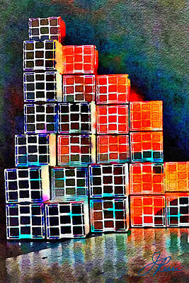 Painting - Twenty Four Boxes by Joan Reese