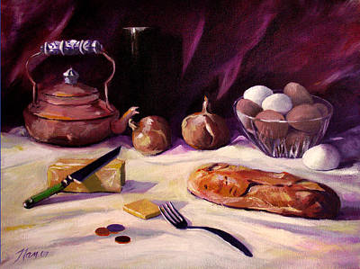 Painting - Twenty Seven Cents And Bread by Nancy Griswold
