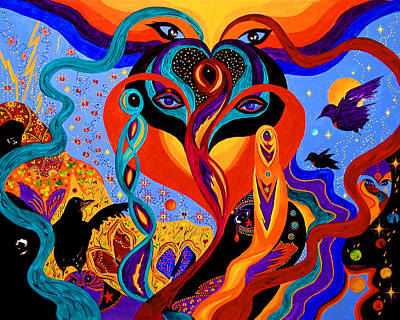 Painting - Karmic Lovers by Marina Petro