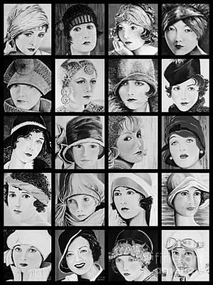 Greta Garbo Painting - Twenty Twenties by Barbara Chase