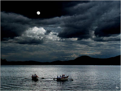 Photograph - Twice In A Blue Moon by Wayne King