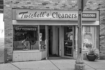 Photograph - Twichell's Cleaners East Lansing Black And White  by John McGraw