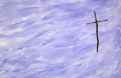 Photograph - Twig Cross On Purple by Liz Masoner
