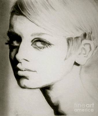 Twiggy Drawing - Twiggy  by Amber Harvin