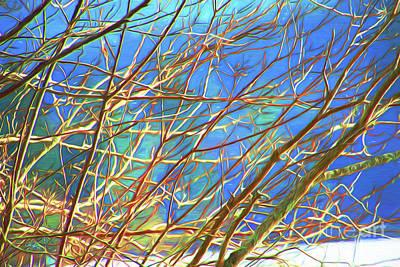 Twiggy Digital Art - Twiggy by Cheryl Rose