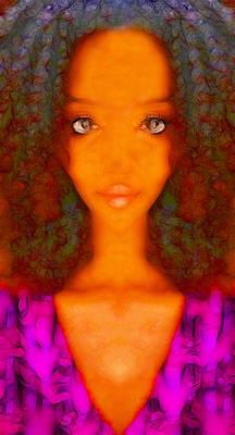 Twiggy Digital Art - Twiggy by Devalyn Marshall