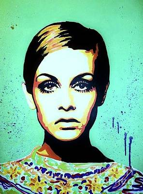 Twiggy Pop Art Painting - Twiggy  by Grant Swinney