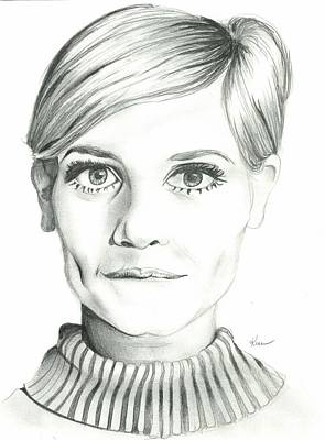 Twiggy Drawing - Twiggy by Kiera McIntosh
