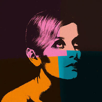 Twiggy Pop Art 2 Art Print by Dan Sproul