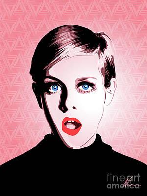 Twiggy Digital Art - Twiggy - Pop Art - Digital Art by William Cuccio aka WCSmack