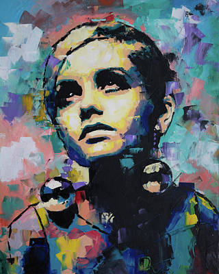Twiggy Art Print by Richard Day
