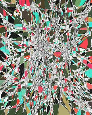 Twiggy Digital Art - Twiggy Stained Glass 9-1-2015 #1 by Steven Harry Markowitz