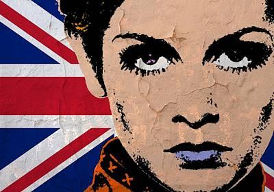 Twiggy-uk Pop Art Print by Otis Porritt