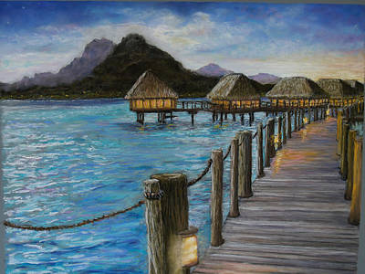 Painting - Twighlight On Bora Bora by Susan Jenkins