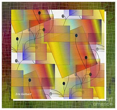 Digital Art - Twigs And Berries #6 by Iris Gelbart