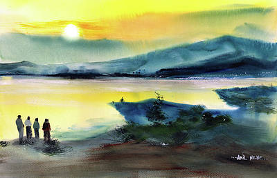 Painting - Twilight 4 by Anil Nene
