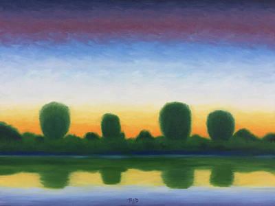 Painting - Twilight Across The River by Robert J Diercksmeier