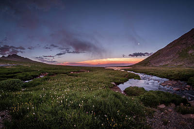 Photograph - Twilight Alpine Stream by Chris Bordeleau
