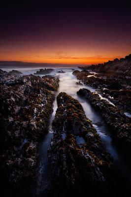 Central Coast Photograph - Twilight And Rocks by Dan Holmes