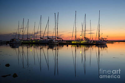 Photograph - Twilight At A Small Harbor by Kennerth and Birgitta Kullman