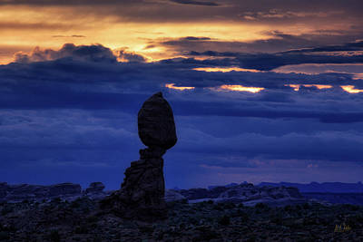 Photograph - Twilight At Balanced Rock by Stuart Gordon