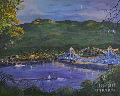 Twilight At Blue Bridges Original