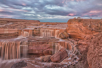 Photograph - Twilight At Chocolate Falls by Tom Kelly