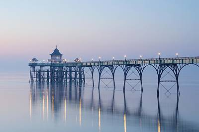 Photograph - Twilight At Clevedon by Stephen Taylor