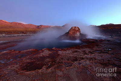 Twilight At El Tatio Geysers Chile Art Print by James Brunker