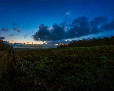 Photograph - Twilight At Fence Line by Chris Bordeleau