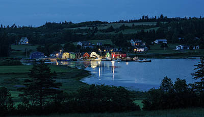 Art Print featuring the photograph Twilight At French River Harbour, Pei by Rob Huntley