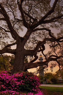 Twilight At St. Simons Lighthouse Art Print