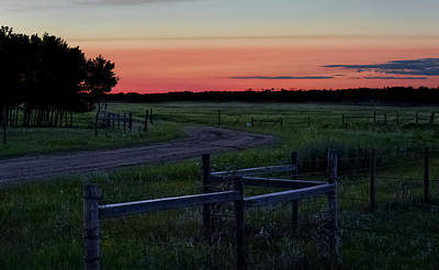 Photograph - Twilight At The Higgins Farm by Ellery Russell