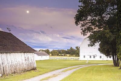 Weathervane Photograph - Twilight Barn - Winneconnie by Dawn Braun