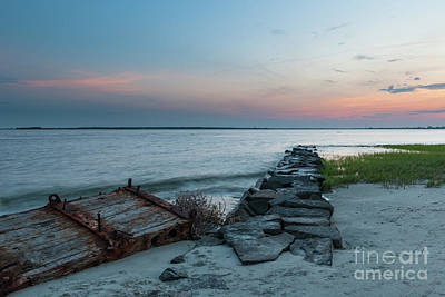 Photograph - Twilight Beach Sky In Charleston South Carolina by Dale Powell
