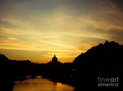 Twilight Behind The Vatican Art Print by Fabrizio Ruggeri