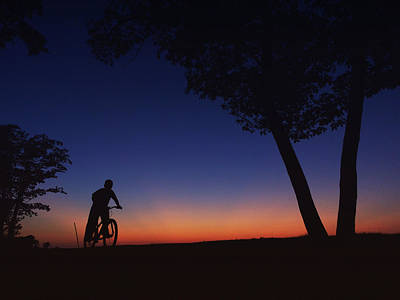 Photograph - Twilight Bike Ride by Heidi Hermes