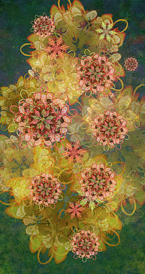 Digital Art - Twilight Blossom Bouquet by Kristin Doner
