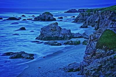 Photograph - Twilight Blue, Noyo Headlands, Ft. Bragg, California by Flying Z Photography by Zayne Diamond