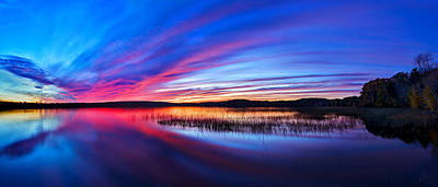 Photograph - Twilight Burn Panorama by ABeautifulSky Photography
