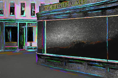 Digital Art - Twilight Cafe by John Haldane