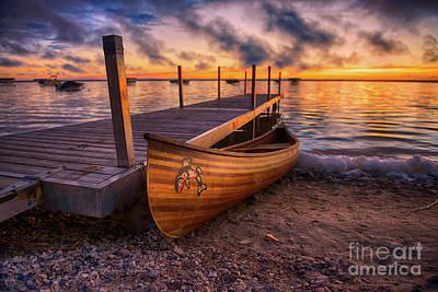 Canoes Photograph - Twilight Canoe by Ian McGregor