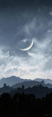 Moon Digital Art - Twilight by Cynthia Decker