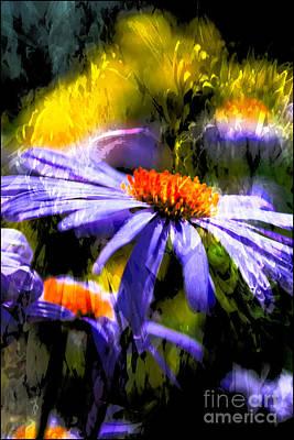 Digital Art - Twilight Daisy by Gina Geldbach-Hall