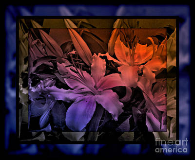 Photograph - Twilight Delight - Stained Glass Series by Miriam Danar