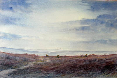 Painting - Twilight Settles On The Moors by Glenn Marshall