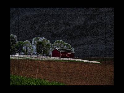 Twilight Farm Art Print by Tina M Wenger