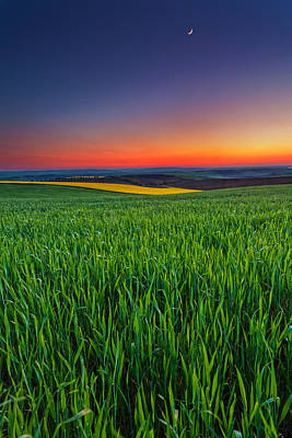 Bulgaria Photograph - Twilight Fields by Evgeni Dinev