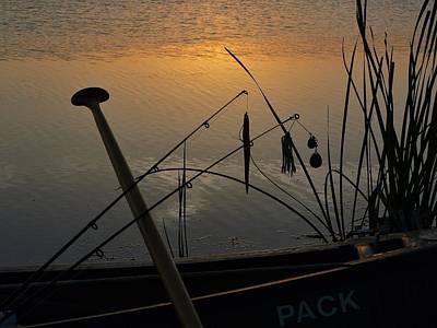 Twilight Is Fishing Light Art Print by Buck Buchanan
